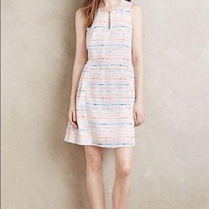 Paper crown Watercolor stripe dress, Small. Veuc.